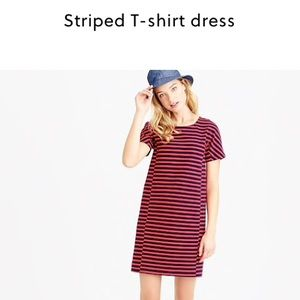 J. Crew Dresses - J. Crew striped t shirt dress in black and white